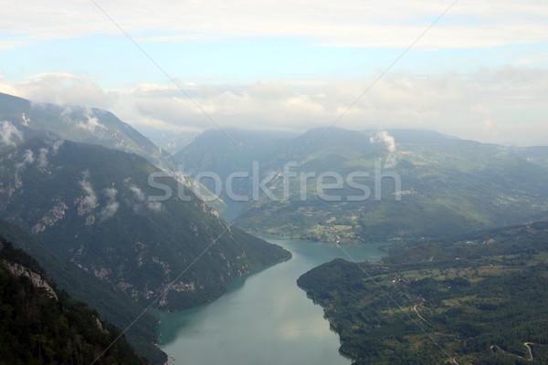 Desfiladeiro rio montanha Sérvia floresta paisagem Foto stock © goce