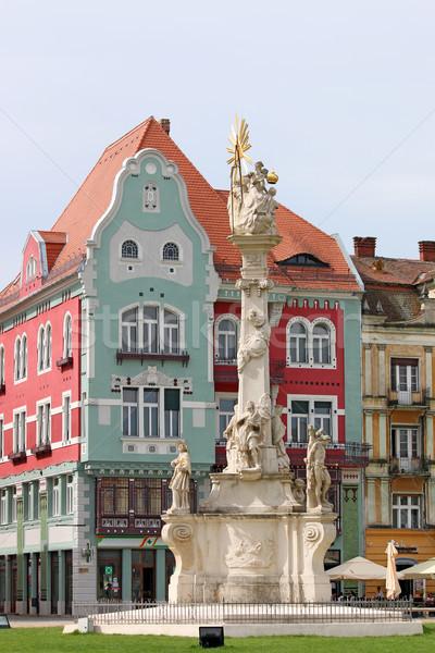 Heilig standbeeld unie vierkante Roemenië Europa Stockfoto © goce