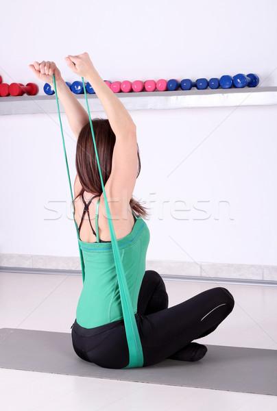 girl fitness exercise healthy lifestyle backside  Stock photo © goce