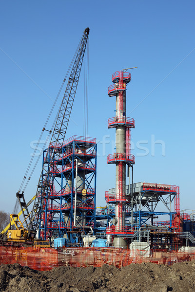 construction site with new petrochemical plant  Stock photo © goce