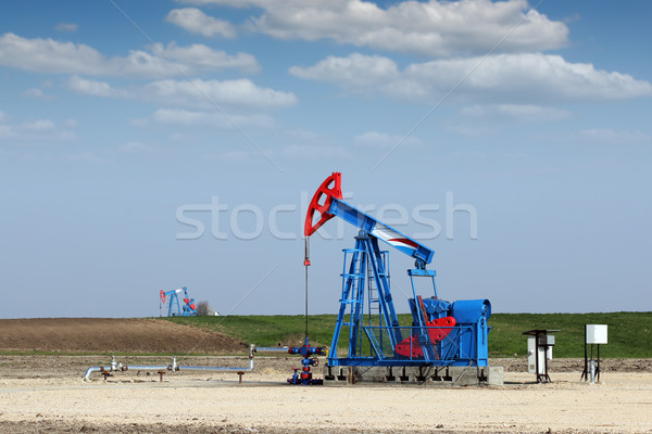 pump jack on field oil industry Stock photo © goce