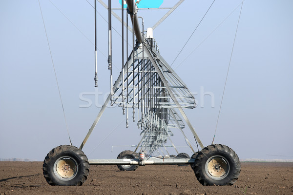 center pivot sprinkler system on field closeup Stock photo © goce