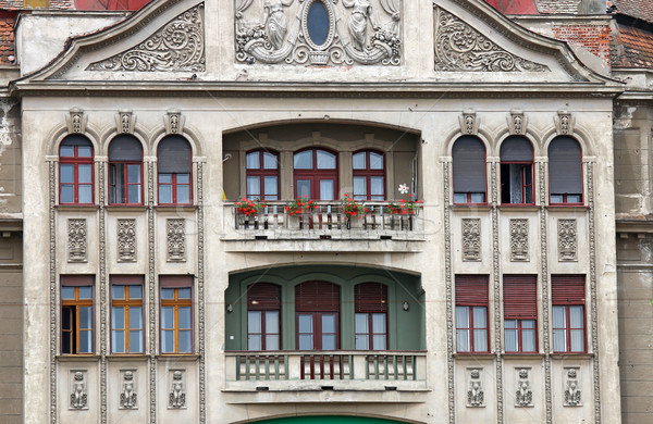 Buitenkant detail Roemenië gebouw stad Stockfoto © goce