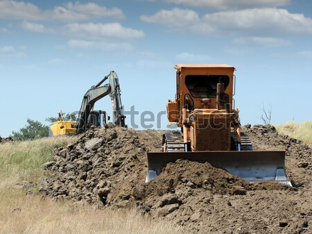 heavy machinery on road construction  Stock photo © goce