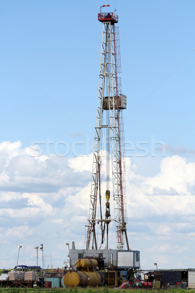 oil drilling rig machinery on field Stock photo © goce