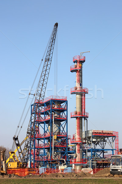 new refinery construction site with machinery Stock photo © goce