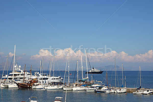 yachts and boats Ionian sea Corfu island Greece Stock photo © goce