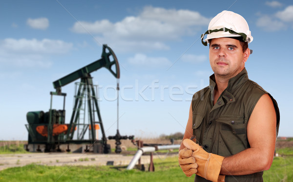 oil industry oil worker posing Stock photo © goce