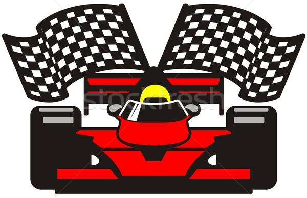 Fórmula esportes raça rápido começar conduzir Foto stock © goce