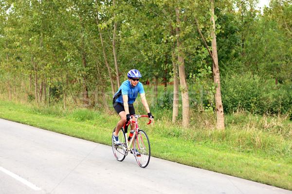 Maschio ciclista equitazione bike strada sport Foto d'archivio © goce