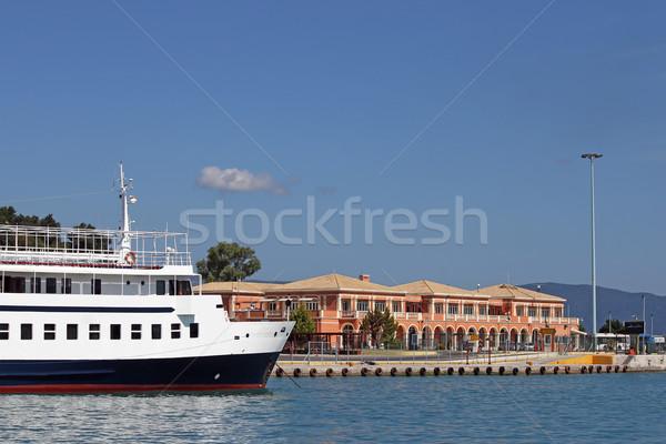 port and ship Corfu town Greece Stock photo © goce