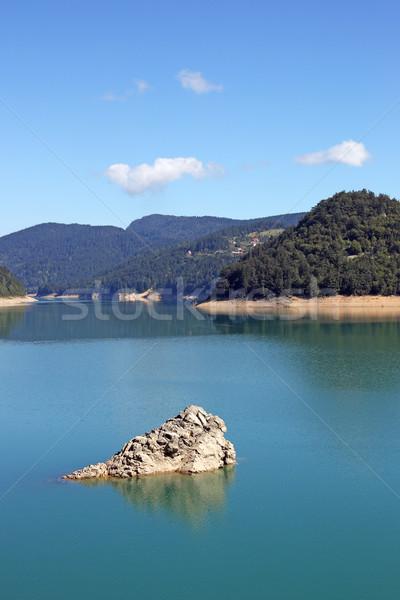 mountain lake morning landscape nature Stock photo © goce