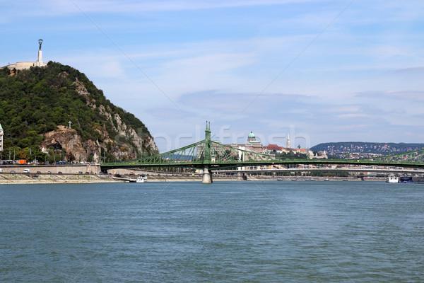 Domb hidak Budapest Magyarország város építkezés Stock fotó © goce