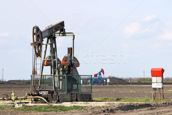 pump jack on oilfiled industry Stock photo © goce