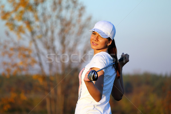 girl golf player outdoor portrait Stock photo © goce