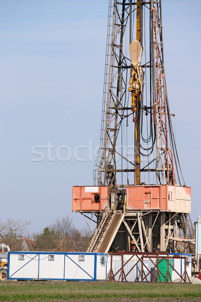 oil drilling rig and equipment on field Stock photo © goce