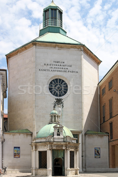 St.Antonio di Padova Paolotti church Rimini Italy Stock photo © goce