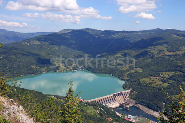 hydroelectric power plant on river landscape summer season Stock photo © goce