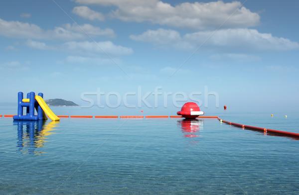 Водная горка морской пейзаж Летние каникулы сцена морем лет Сток-фото © goce