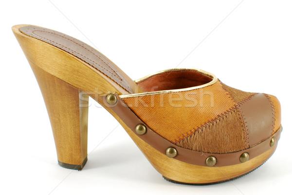 woman clog on white Stock photo © goce