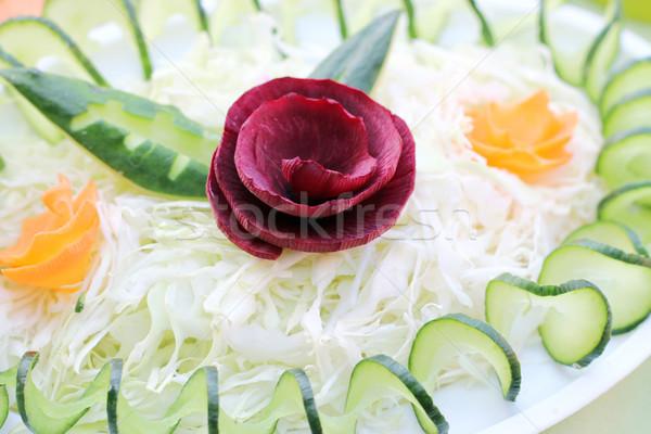 ビートの根 キュウリ ニンジン サラダ クローズアップ 白 ストックフォト © goce