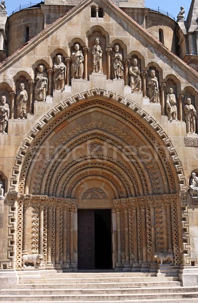 Gótico iglesia castillo Budapest cruz oración Foto stock © goce