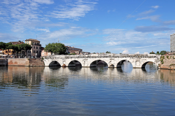 old stone Tiberius bridge Rimini Italy Stock photo © goce