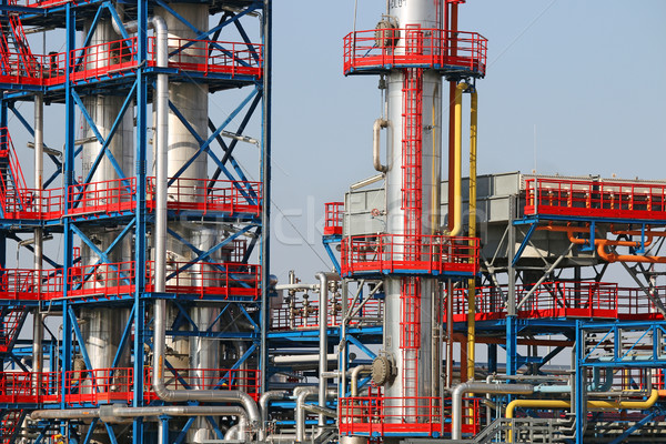 refinery petrochemical plant oil industry detail Stock photo © goce