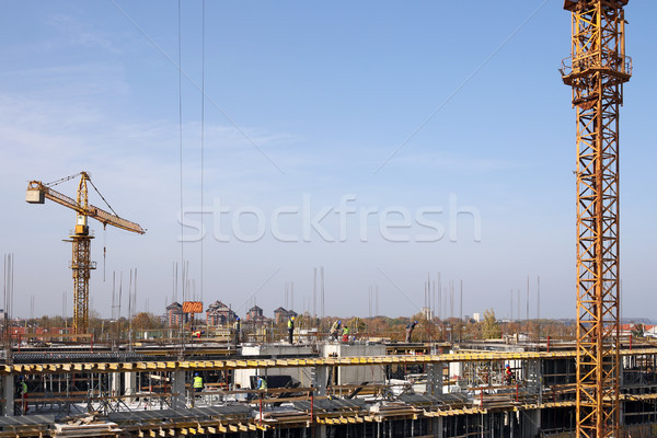 Nuovo costruzione lavoratori business città Foto d'archivio © goce