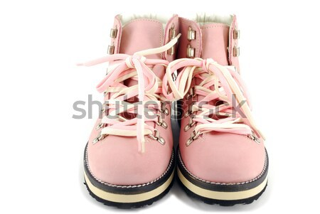 woman pink hiking boots Stock photo © goce