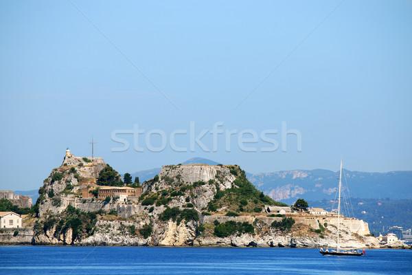 Old fortress Corfu town Greece Stock photo © goce