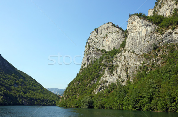 Drina river canyon with massive rocks landscape  Stock photo © goce