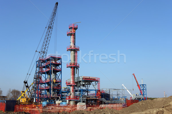 new petrochemical plant construction site Stock photo © goce