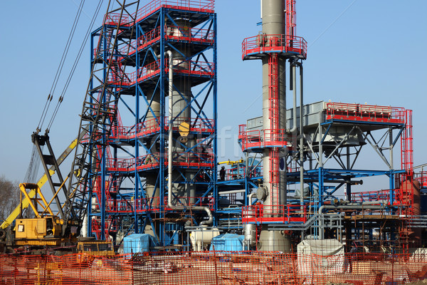 new plant construction site heavy industry Stock photo © goce