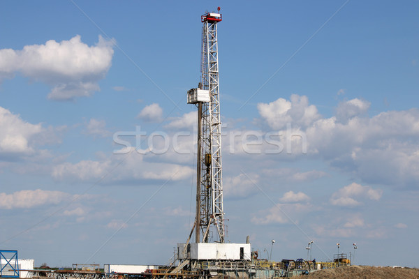 land oil drilling rig on field Stock photo © goce