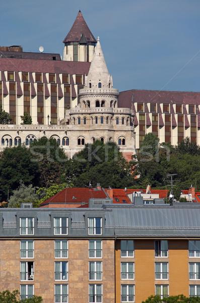 Pescador torre edifícios Budapeste Hungria edifício Foto stock © goce