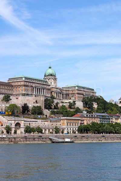 Budapest royal castle on Danube river Hungary Stock photo © goce