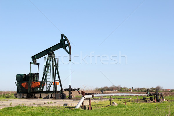 oil field with pump jack Stock photo © goce
