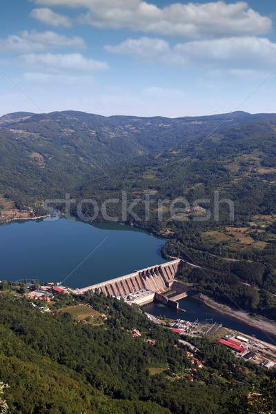 Perucac Serbia hydroelectric power plant on river landscape Stock photo © goce