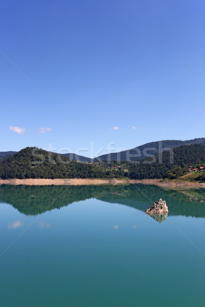 Göl manzara dağ Sırbistan seyahat park Stok fotoğraf © goce