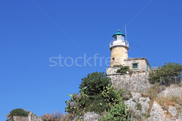 lighthouse old fortress Corfu island Greece Stock photo © goce