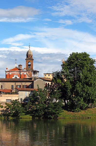 church tower and buildings Rimini Italy Stock photo © goce