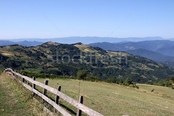 Hegy tájkép nyugat Szerbia nyár évszak Stock fotó © goce
