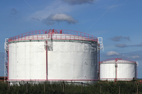 refinery oil tanks industry zone Stock photo © goce