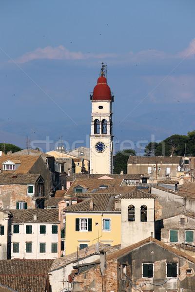 St.Spiridon church tower Corfu Greece Stock photo © goce