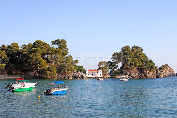 Küçük ortodoks kilise ada su deniz Stok fotoğraf © goce