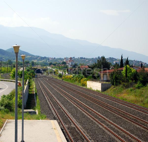 鉄道 トンネル 道路 旅行 業界 ストックフォト © goce