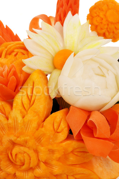vegetables salad decorated like flowers close up Stock photo © goce