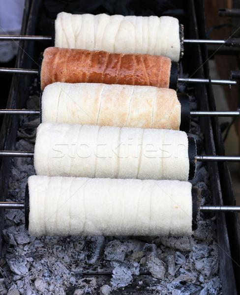 Сток-фото: Sweet · дымоход · торт · десерта · огня · хлеб