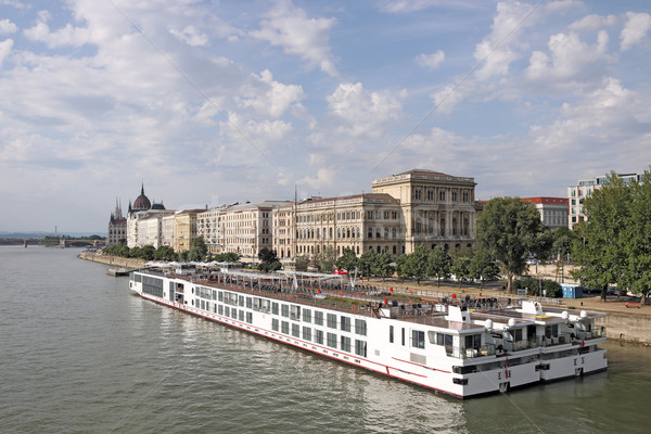river cruiser ship on Danube river Budapest Stock photo © goce